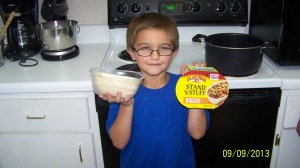 Here is Koenig showing the  Old El Paso Stand 'N Stuff® Soft Flour Tortillas